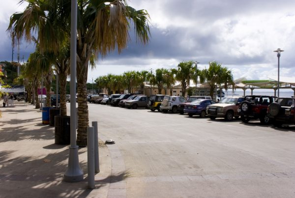 Cars Parked at Ferry Dock in Puerto Rico