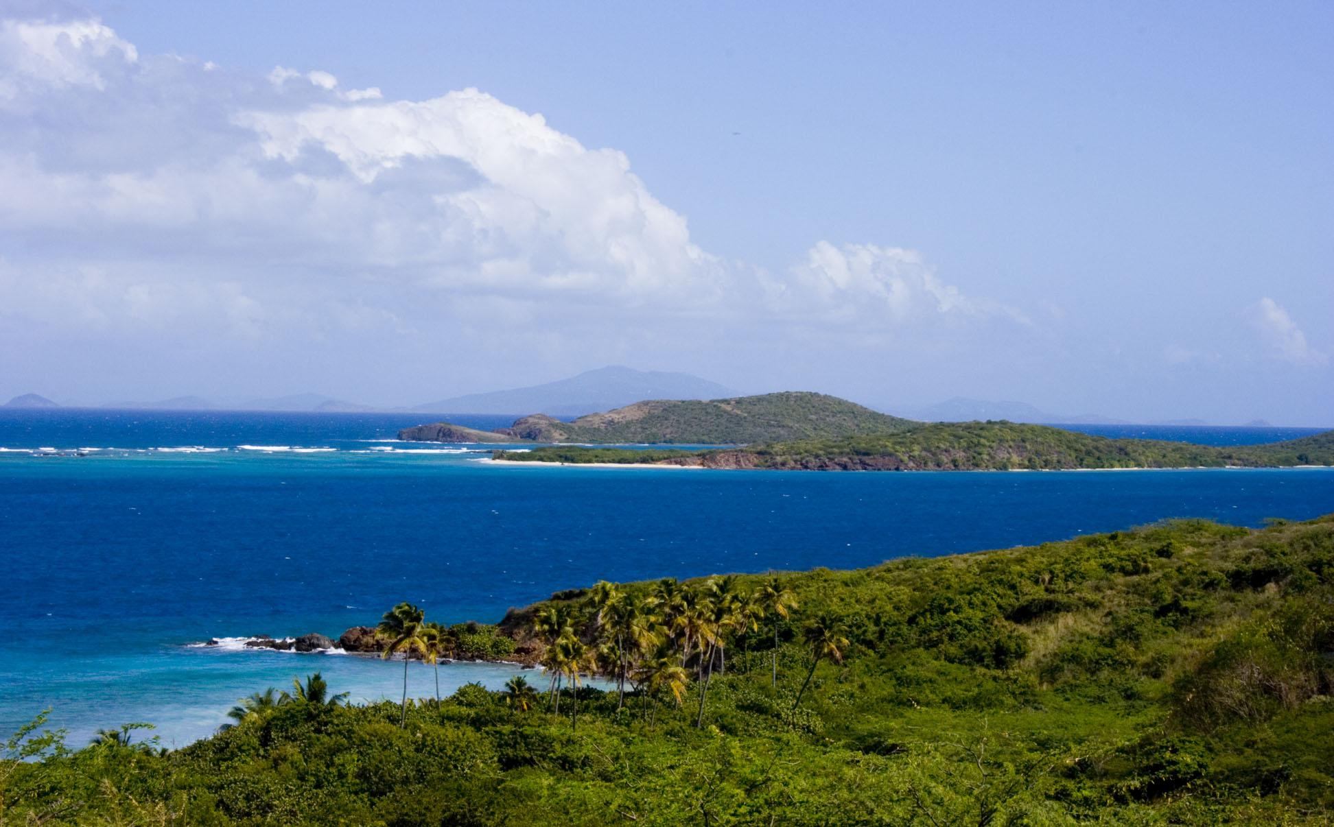 Zoni Beach from the hillside in Culebra